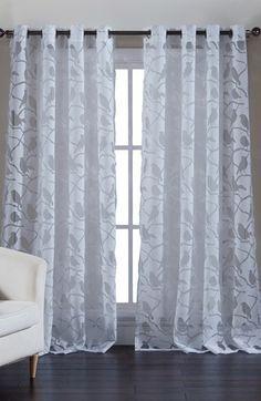Kensie Jaye Sheer Window Panel White Paneling Grommet
