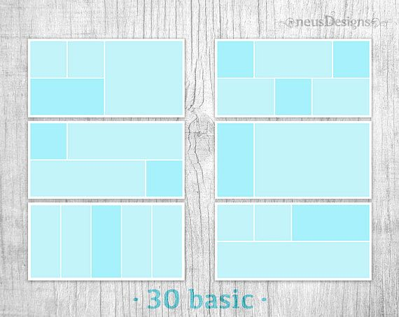 Album template mask, photo collage template, collage template, photo ...