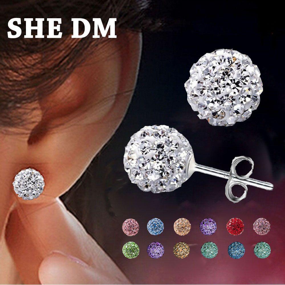 Brincos Earing Earrings Online Ping India Aros Penntes Mujer For Women Brinco Perlas Crystal Stud Oorbellen Earring 2017 Klik Tombol Kunjungi