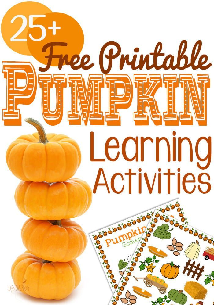 Free Pumpkin Printable Learning Activities | Scary pumpkin, Learning ...