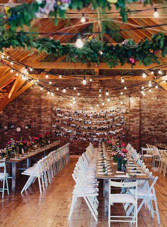 Rustic And Romantic Wedding Reception Inspiration Pinterest