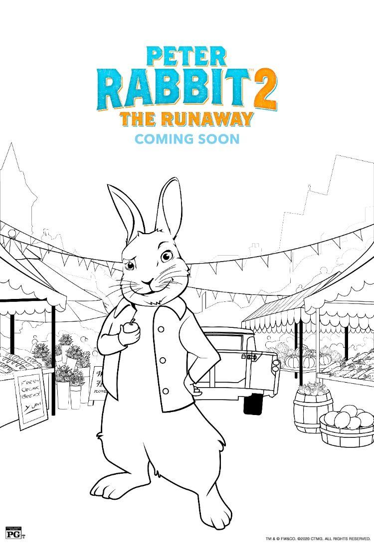 Peter Rabbit 2 The Runaway Coming Soon Easter Coloring Pages Peter Rabbit And Friends Peter Rabbit