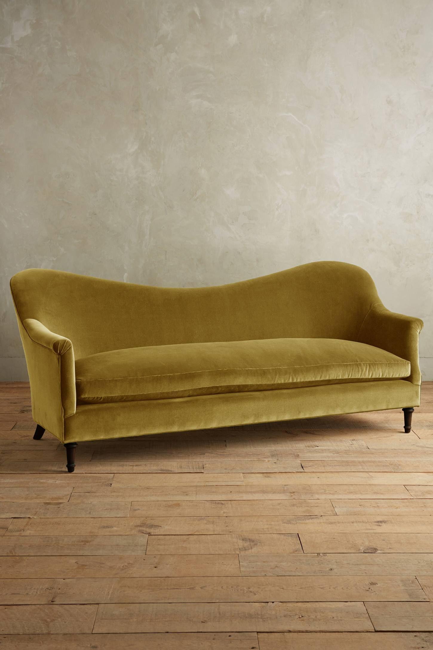 Velvet PiedATerre Sofa, Hickory Sofa furniture, Sofa