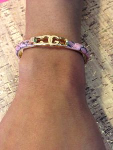 python Leather Bracelet from italy! for sale now!!!