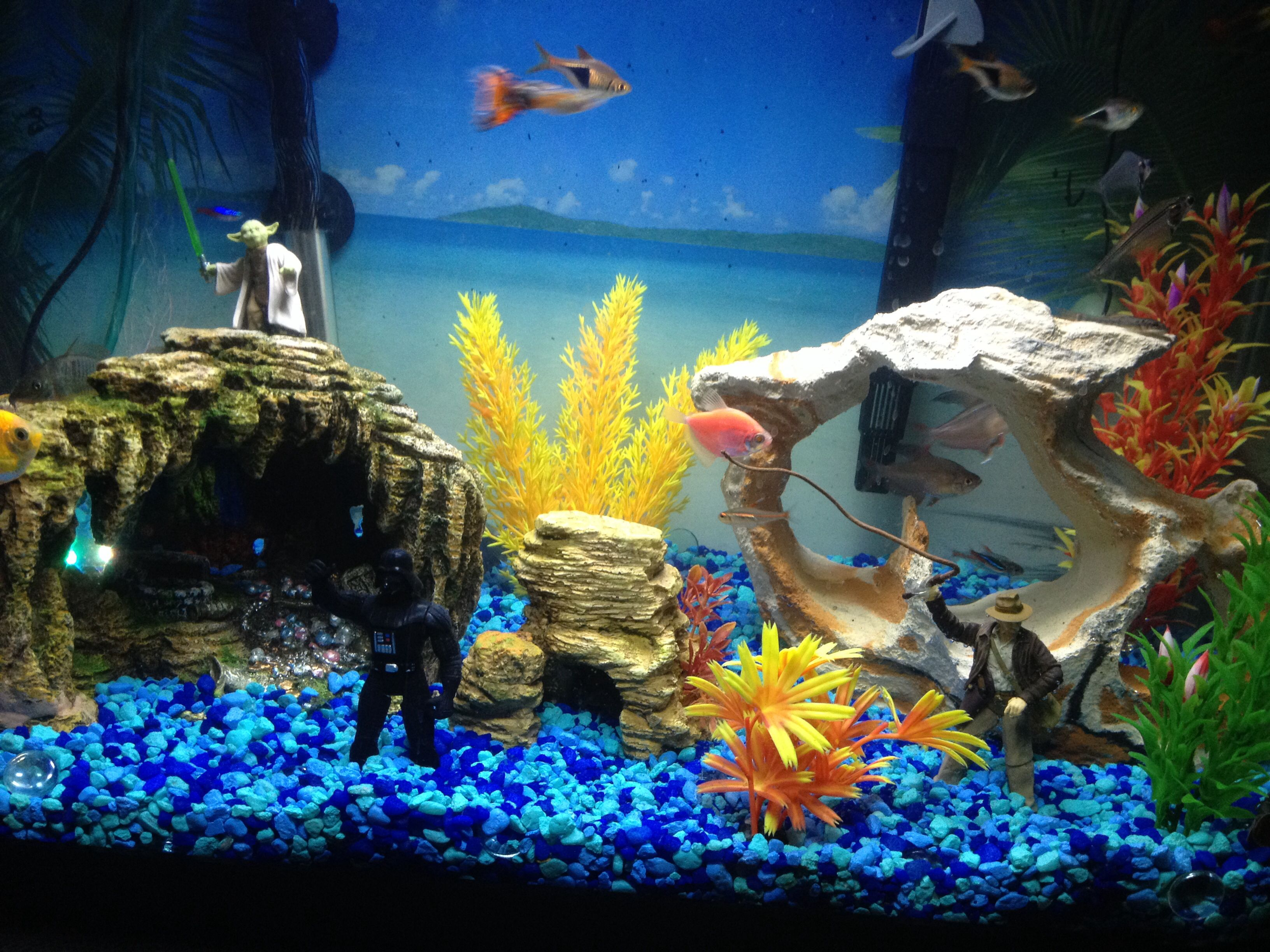 Adding yoda darth vader and indiana jones changes the for Fish tank ice method