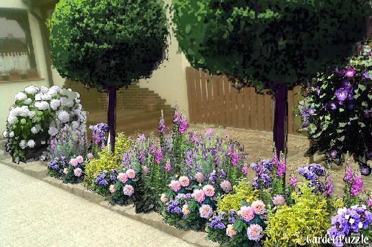 Rabata Przed Domem Ii Gardenpuzzle Projektowanie Ogrodow W Przegladarce Patio Garden Plants Garden
