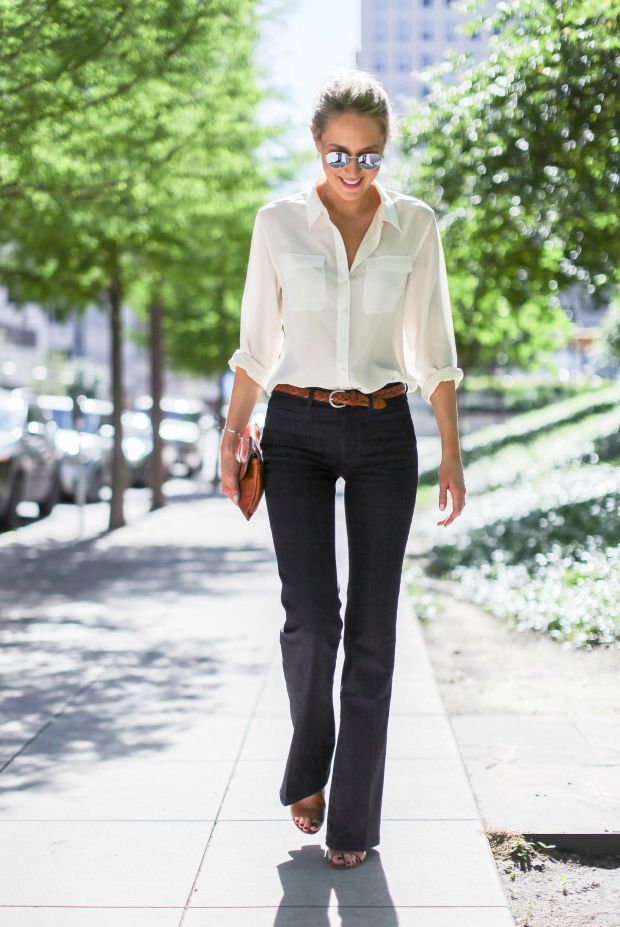 10 fresh ways to wear the a white shirt outfit office for Business casual white shirt