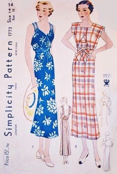 32330377fa6 1930s GORGEOUS Wrap Dress Pattern SIMPLICITY 1773 NRA 30s Summer Resort  Sundress 2 Amazing Styles Bust 32 Vintage Sewing Pattern