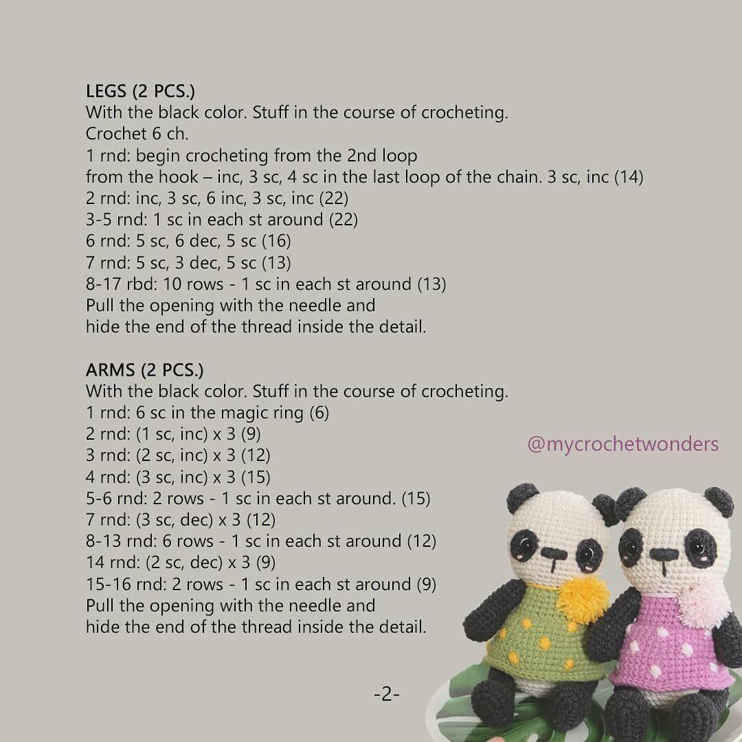 Amigurumi Patrón Premium: Kumiko Panda - Tarturumies | 1080x1080