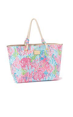 Lilly Pulitzer Sline Tote Love This Bag Print Is Awesome And I Rope Handles