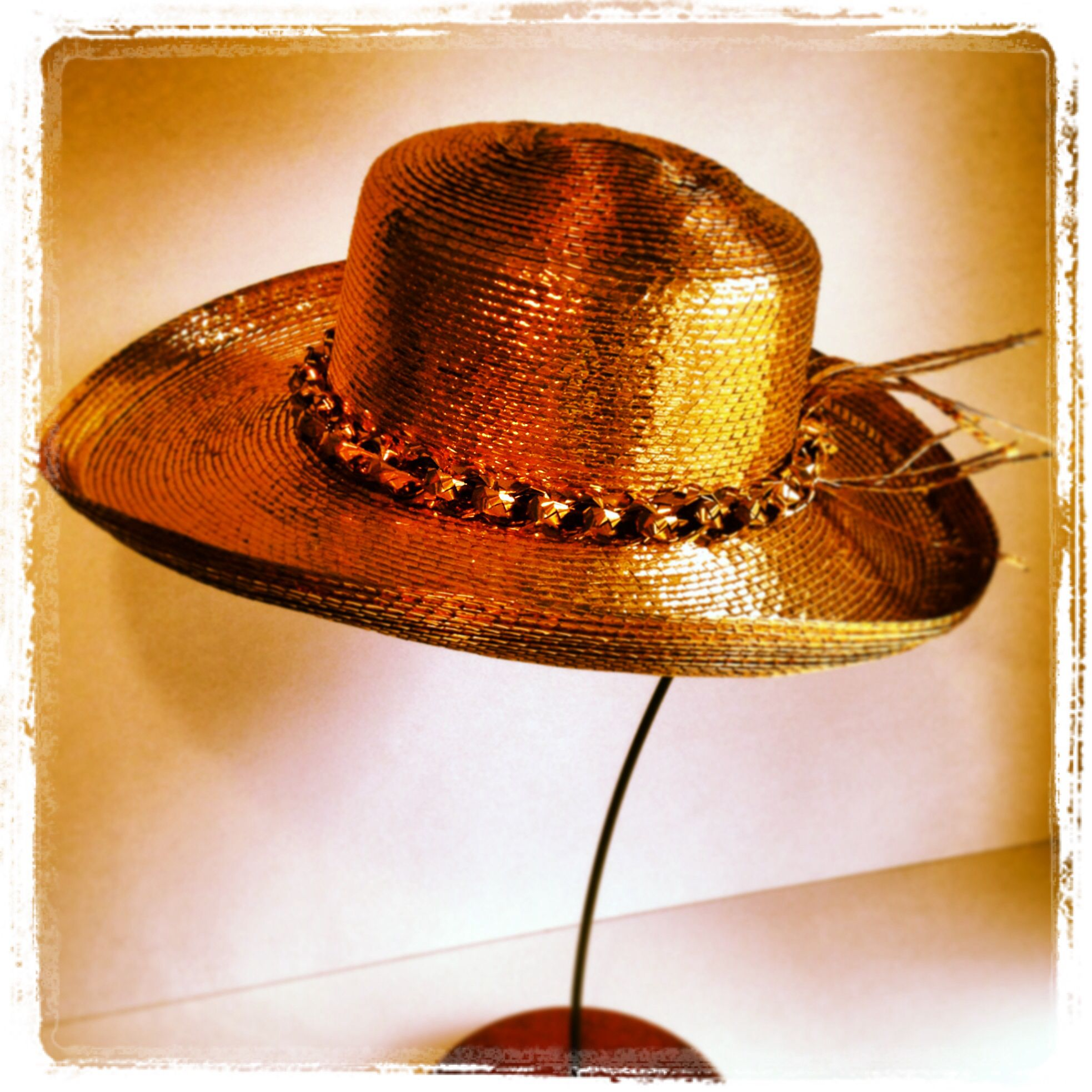 9c62df2d9 Vintage Frank Olive Cowboy Hat on Gold for Neiman Marcus   Hats ...