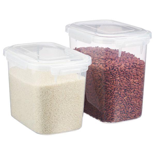 Lustroware Smart Locks Keep Boxes Bulk Food Storage Glass Food