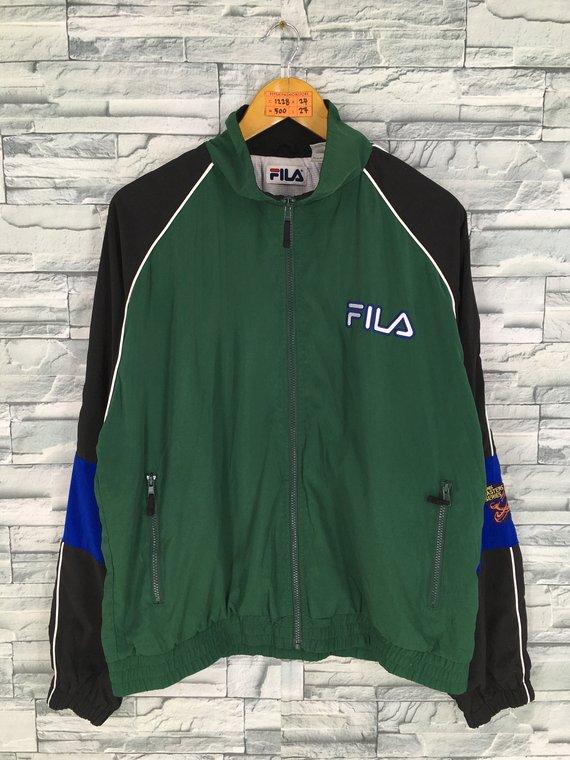 04e5893d28867 FILA Italia Windbreaker Jacket Medium Unisex Vintage 90s Biella ...