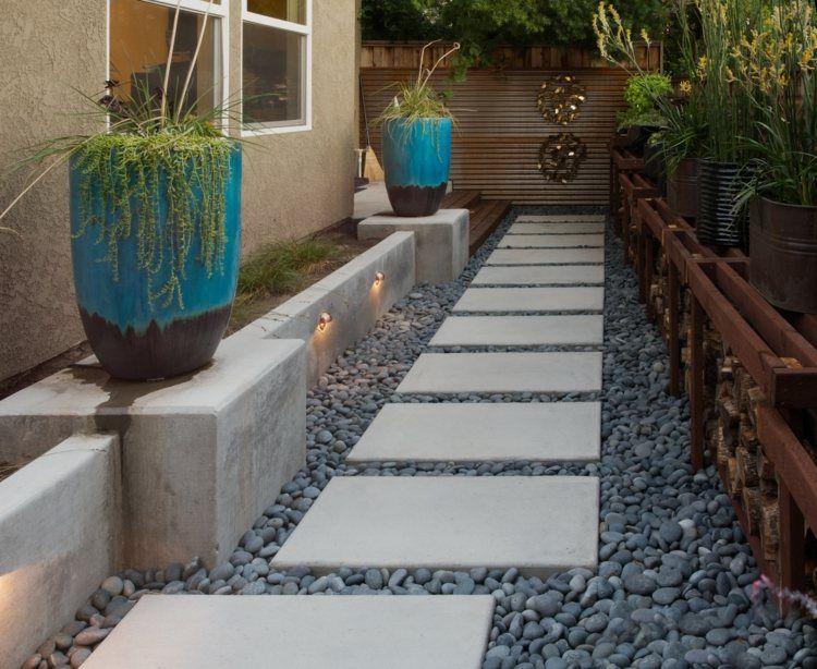 idee zur gestaltung eines wegs mit platten und kies garten pinterest kies weg und gartenweg. Black Bedroom Furniture Sets. Home Design Ideas