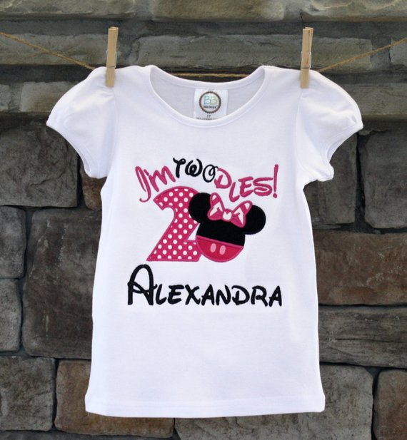 Minnie Mouse 2nd Birthday T ShirtPersonalized Embroidered