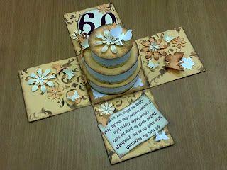 Basteln · Torte. Geldgeschenke Verpacken60 Jahre60 GeburtstagKleine ...