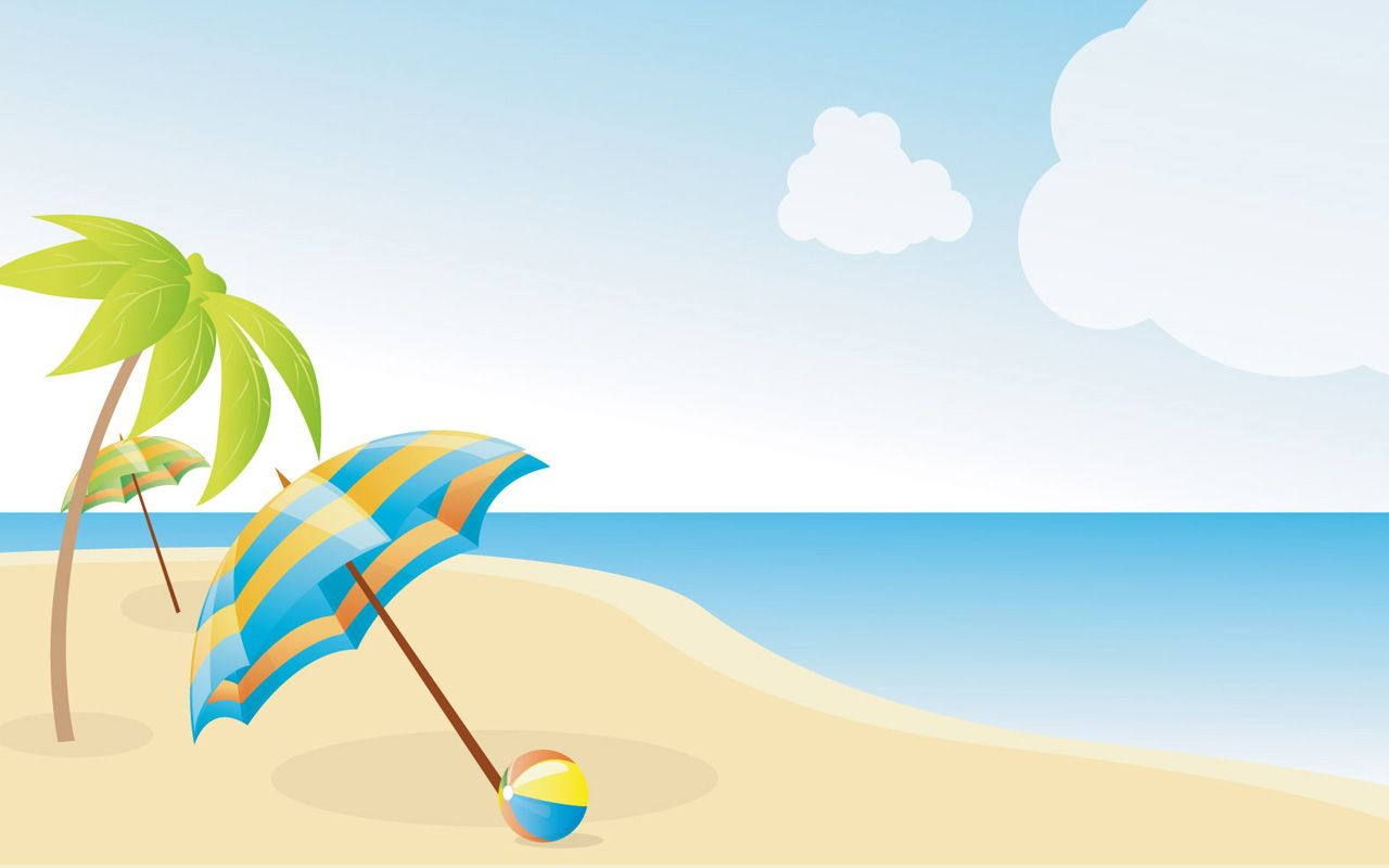 beach clip art | summer beach wallpapers x image - vector clip art