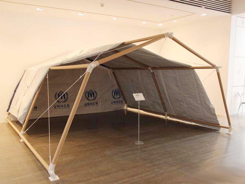 Shigeru ban architecture and humanitarian activities anwendungen rohre architektur - Bambus gartenhaus ...