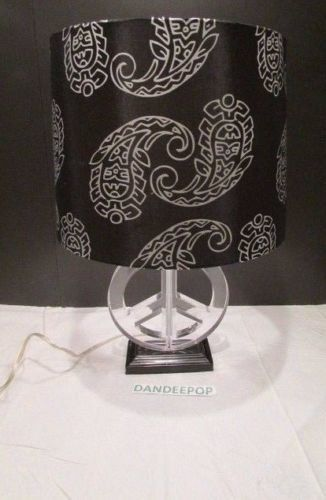 Acrylic peace sign symbol lamp with paisley pattern black shade 20 acrylic peace sign symbol lamp with paisley pattern black shade 20 tall peacelamp aloadofball Gallery
