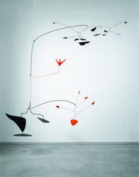 Kinetisches Mobile kinetische kunst alles is continue in beweging calder