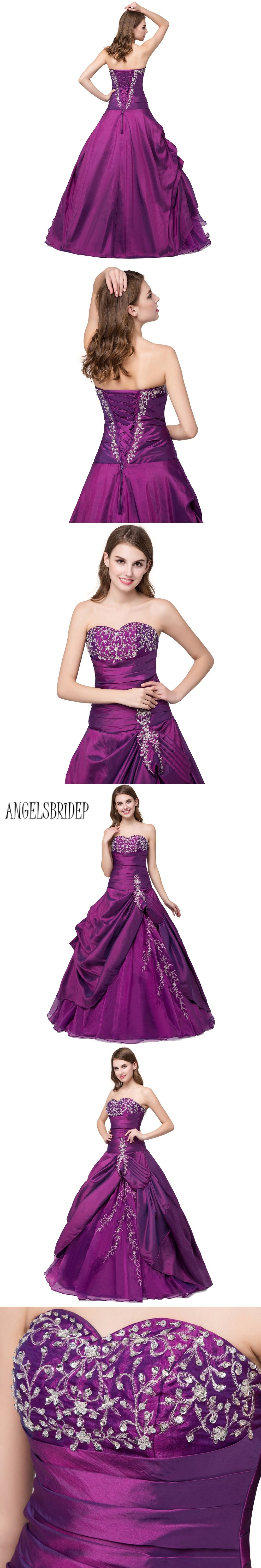 2c61d0637bc03 ANGELSBRIDEP Purple Sweet 16 Ball Gowns Quinceanera Dresses Cheap ...