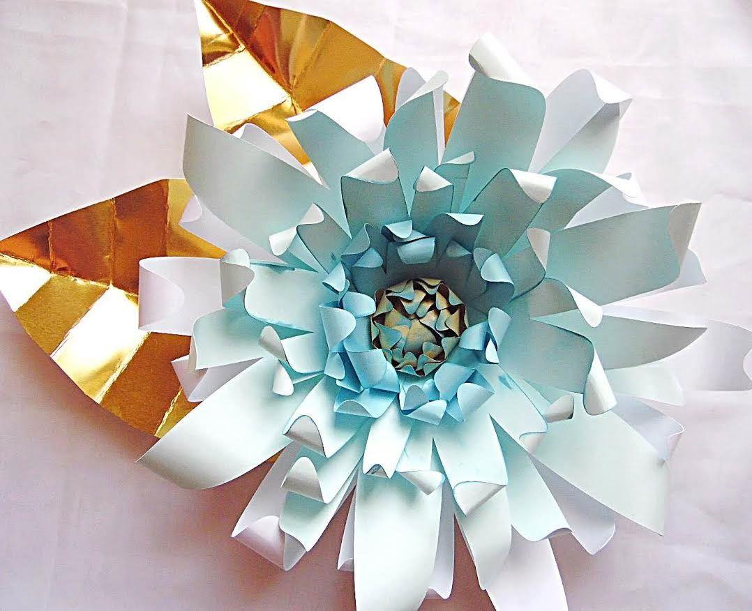 Giselle Style Large Paper Flower Youtube Flores De Papel