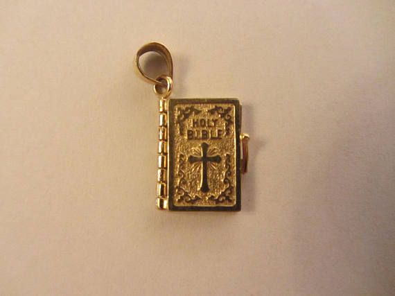 14k solid gold 3d 6 page holy bible pendant charm 355g dreaming 14k solid gold 3d 6 page holy bible pendant charm 355g mozeypictures Image collections