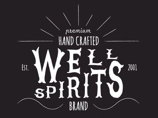 Well Spirits, branding design.  http://jasonsicklerdesigner.com/wellspirits.html