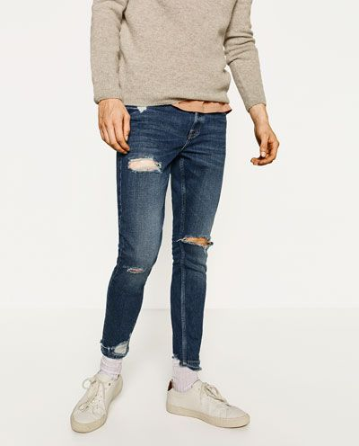 4324482ef1e Imagen 2 de DENIM SKINNY RAW EDGE de Zara | comfort skinny jeans ...