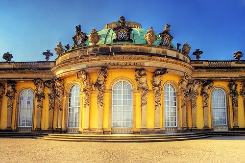 sansoucci castle in potsdam, germany - built by frederick the great