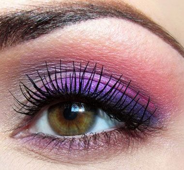 Lovely Lavender - Click Pic for 18 Makeup Tips for Brown Eyed Girls this girls lids ar crappy but the color is great