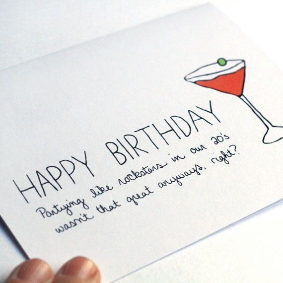 Funny Birthday Card Birthday Card For Friend 30th by JulieAnnArt – Funny Birthday Card Idea