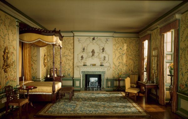 Mrs. James Ward Thorne, American, English Bedroom of the Georgian Period, 1760-75, c. 1937, Miniature room, mixed media, Gift of Mrs. James Ward Thorne, The Art Institute of Chicago (Image No. 00044660-01) - Interior Design, History