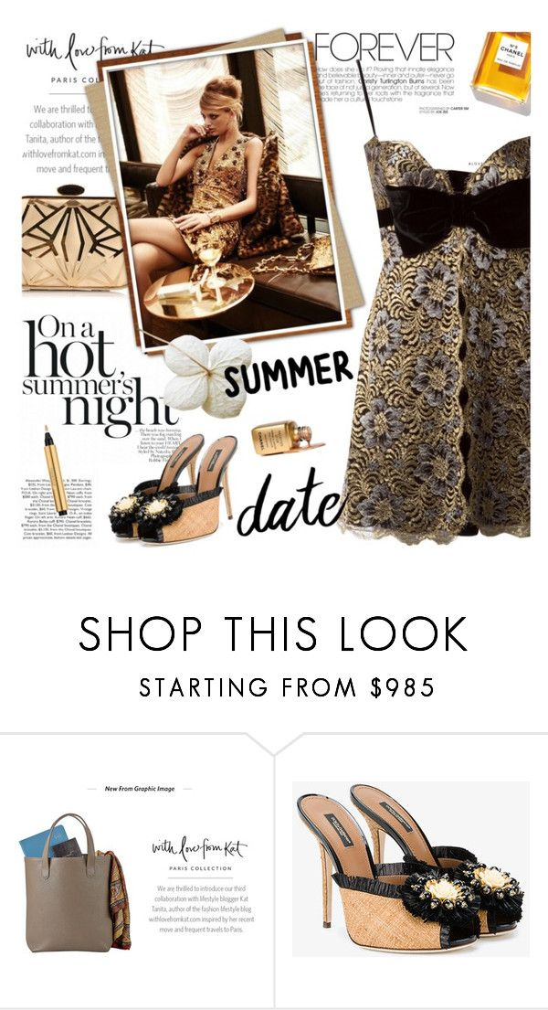 """""""Smokin' Hot: Summer Date Night"""" by lacas ❤ liked on Polyvore featuring Graphic Image, Chanel, Dolce&Gabbana, Azzaro and summerdatenight"""
