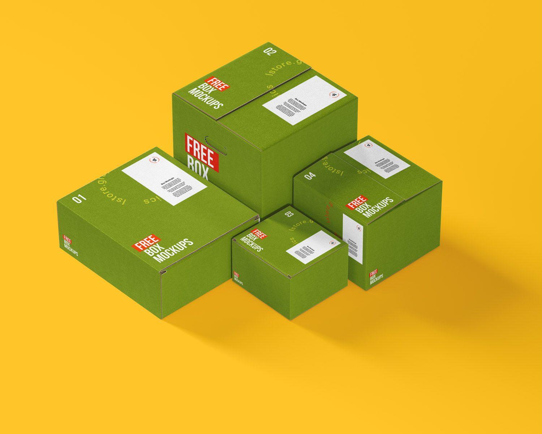 Download 7 Psd Cardboard Box Mockups Free Mockup Box Mockup Free Business Card Mockup Cardboard Box