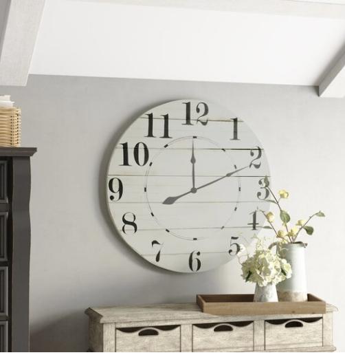 Interior Design Trends For 2021 Part 2 Stonegable Oversized Wall Clock Wall Clock Farmhouse Wall Clocks