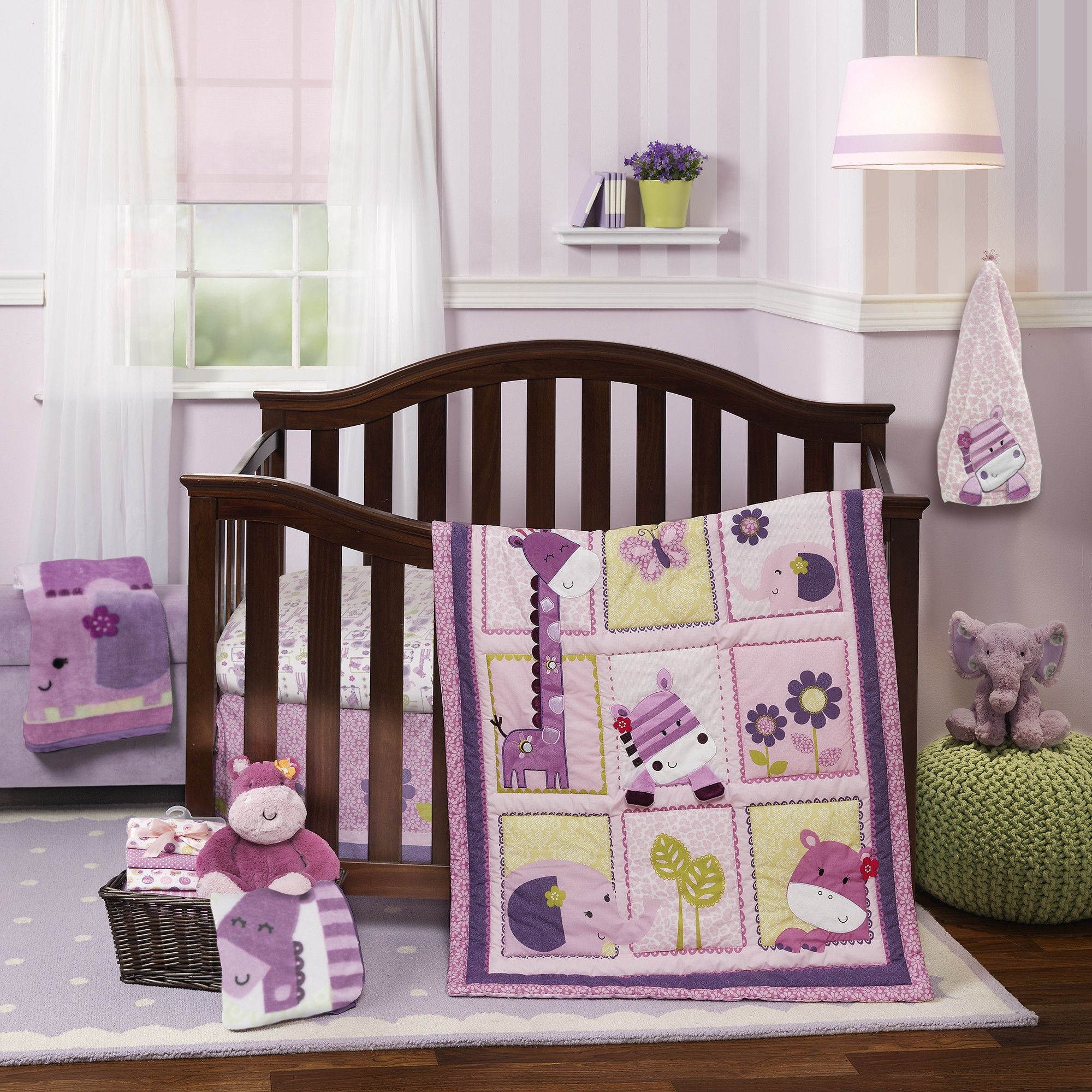 Crib for sale sears - Hopscotch Jungle 3 Piece Crib Bedding Set By Lambs Ivy Available At Sears Other Accessories