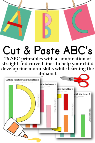 cut paste abcs great for building fine motor skills while learning the abcs