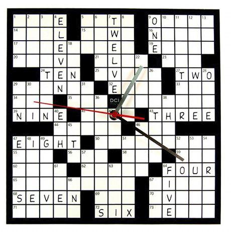 Crossword Clock Compte A Rebours Decoration