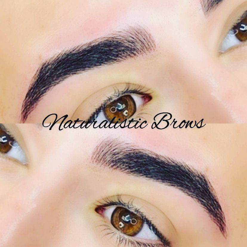 Naturalistic Brows In 2020 Microblading Eyebrows Eyebrows Microblading Aftercare