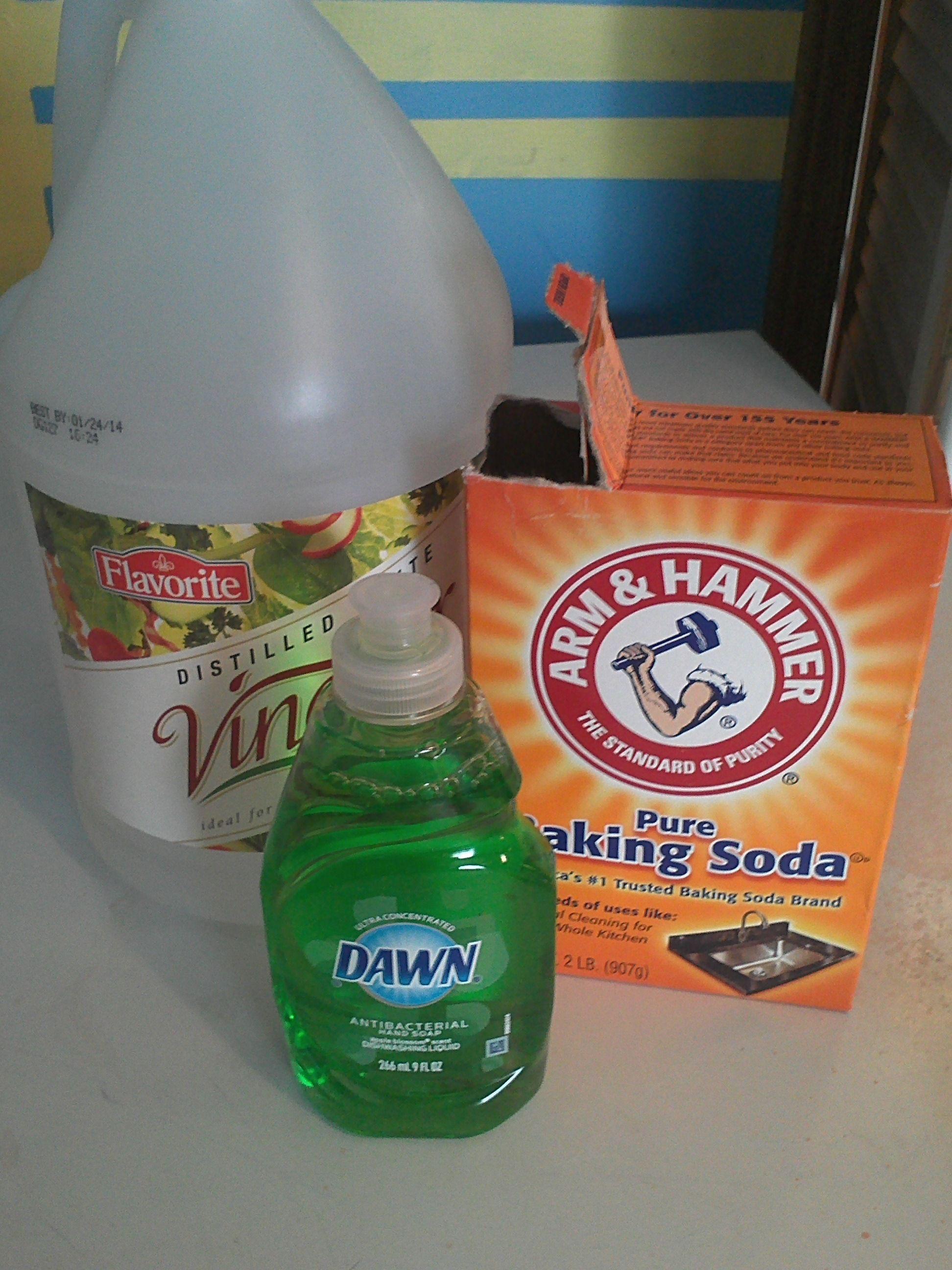 Oven Cleaner 10 T Baking Soda 8 T Vinegar 1 Tsp Dawn