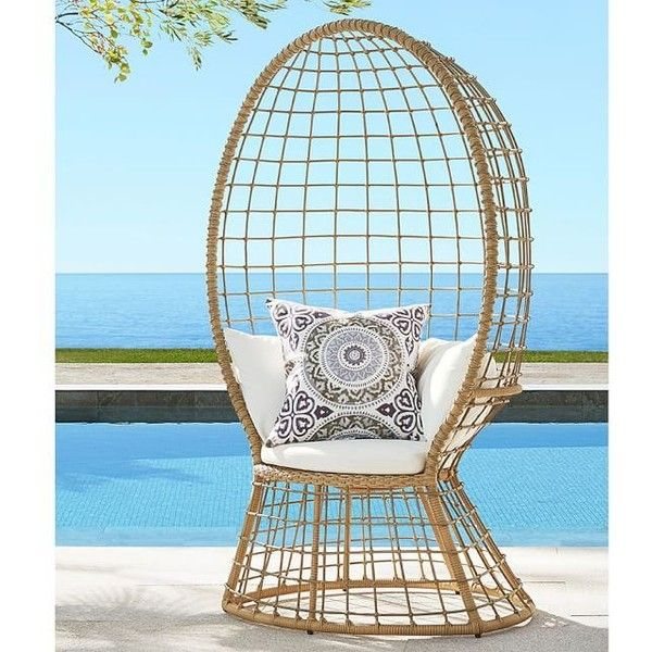 Pottery Barn Peacock All-Weather Wicker Chair with Cushions ($430