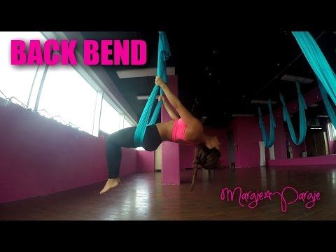 back bend aerial yoga tutorial  margie pargie