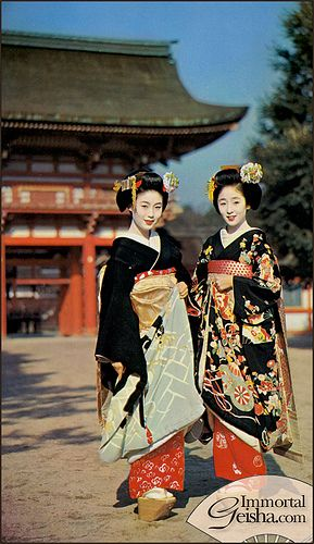 Maiko - Postcards from the 1960s, via Flickr.