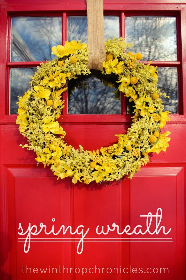 Spring Door Wreath Ideas Part - 49: Spring Wreath · Diy WreathDoor ...