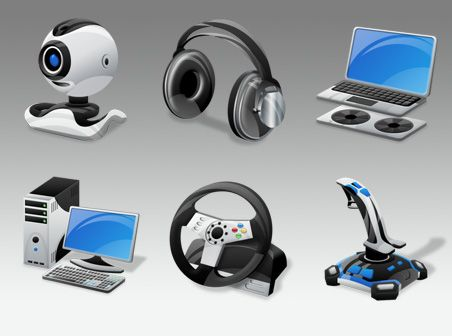 6 vista computer gadgets icons in png format