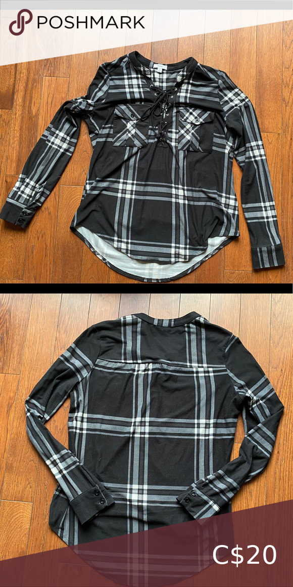 Ardene Plaid Long Sleeve