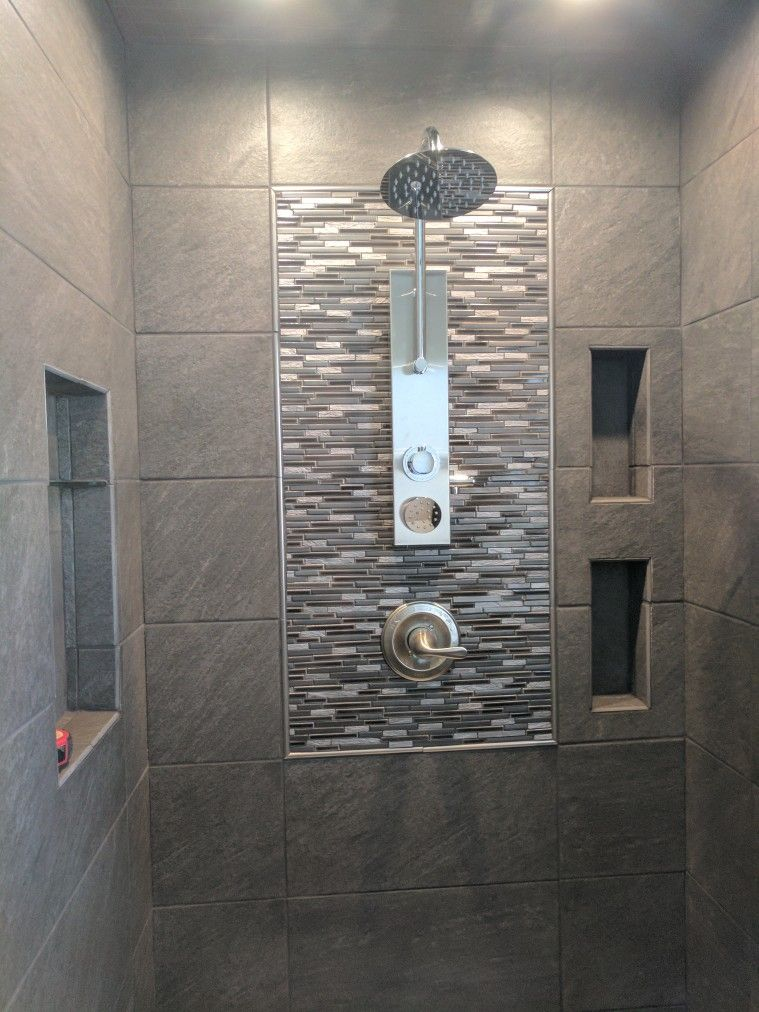charcoal tiles bathroom galvano charcoal tile great for bathroom style just 12279
