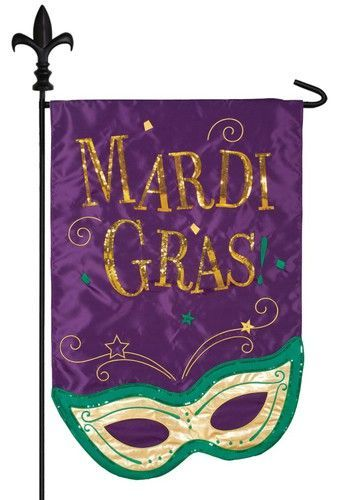 This Mardi Gras Garden Flag Is A One Of A Kind, Sequined Work Of Art
