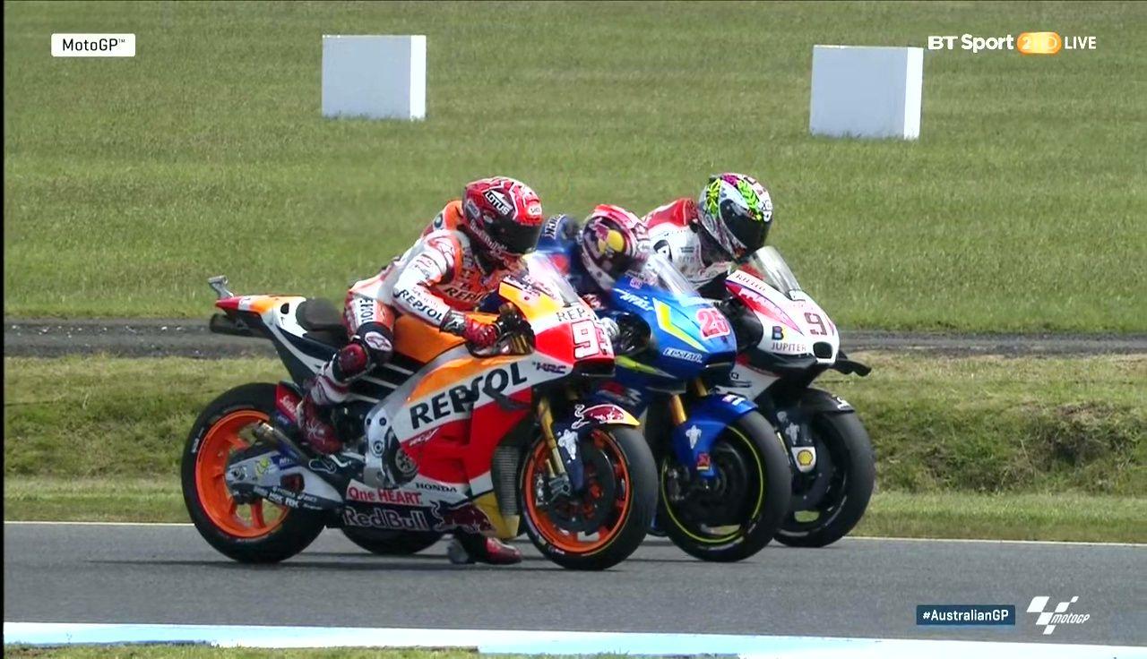 Australian GP Warmup Practicing Start Marc Marquez